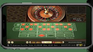 roulette en ligne sur un téléphone mobile