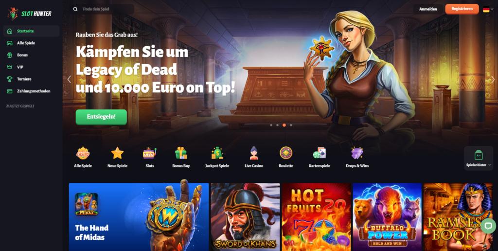 Legacy of Dead SlotHunter Casino