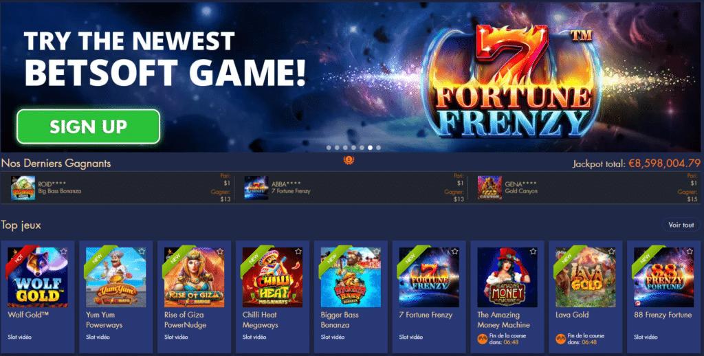 Bondibet Casino Page d'accueil
